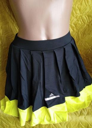 Юбка со вшитыми шортиками adidas by stella mccartney отлично для спорта l-xl