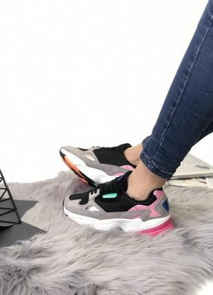 Стильные замшевые кроссовки adidas falcone (весна-лето-осень)😍