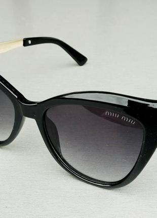 Miu miu очки женские солнцезащитные черные