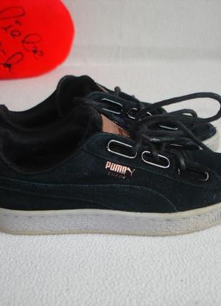 Кожаные кеды кроссовки бренд puma оригинал