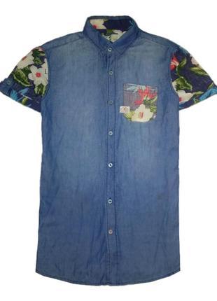 Рубашка с тропическим принтом унисекс alcott&co