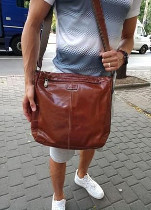 Кожаная сумка fossil оригинал