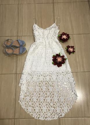 Белое кружевное 👗 платье