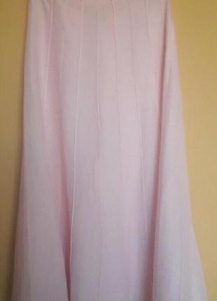 Льняная розовая юбка
