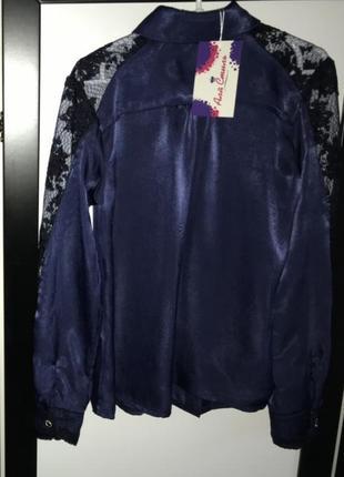 """Очень красивая и качественная блузка """"мокрый шелк"""" кружево"""