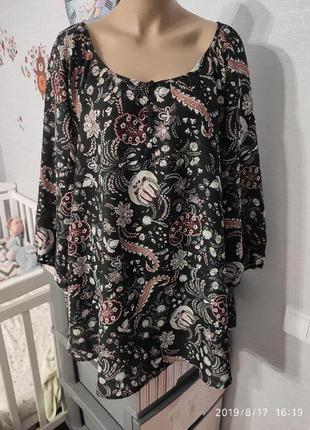 Красивая блуза из легкой шелковистой ткани, пог-66