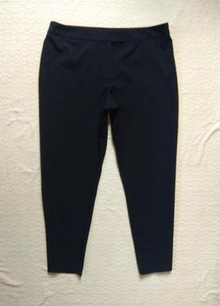 Классические зауженные черные штаны брюки со стрелками george, 18 размер