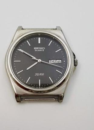 Часы seiko sq100, (кварц), 1980 год. япония, идеальное состояние.
