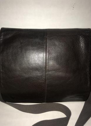 Большая мужская кожаная сумка через плечо john rocha. формат а-4.