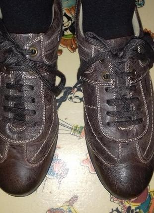Туфли-мокасины кожаные унисекс