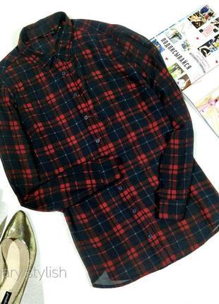 Блузка в клетку шифон new look