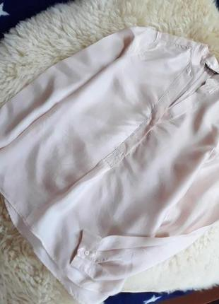 Нежная шелковая блуза massimo dutti