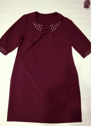 Шикарное платье бордо