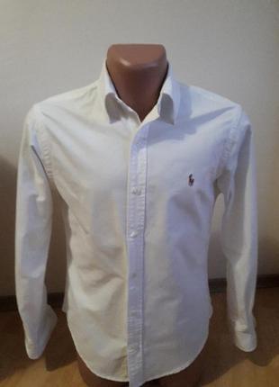 Отличная льняная рубашка ralph lauren, m, slim fit