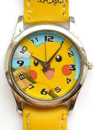 Pokemon часы ярко-желтые и веселые