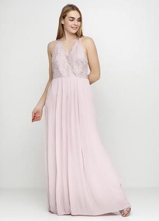 Вечернее платье, розовое платье в пол, лиловое платье с открытой спиной asos