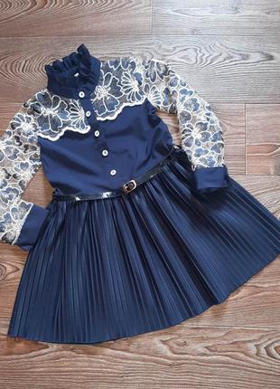 Очень красивое нарядное платье с поясом