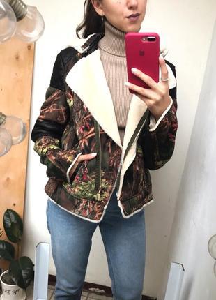 Короткая дублёнка , куртка m-l