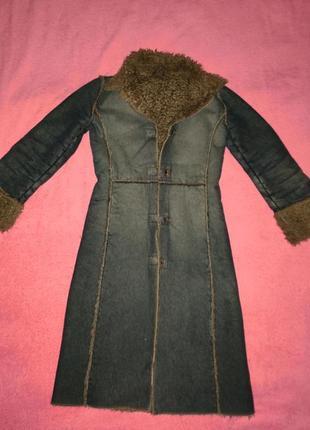Итальянское джинсовое пальто, плащ