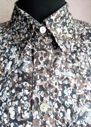 Блуза,рубашка,натуральный коттон, хлопок, принт леопард,индонезия