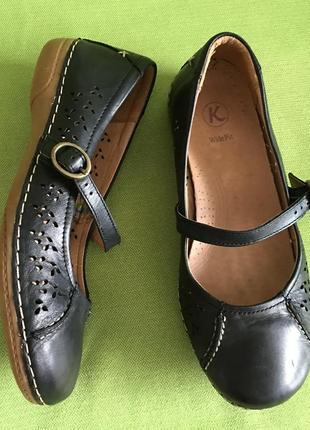 Туфли, мокасины clarks, р.38, кожа