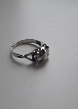 Серебряное кольцо рысь