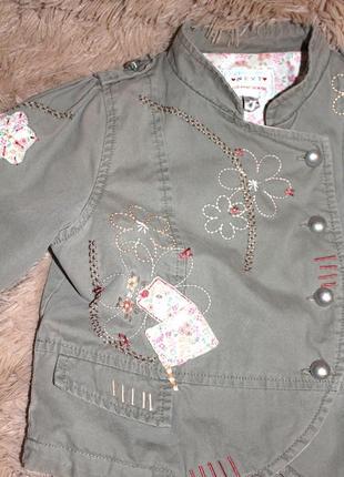 Жакет - пиджак детский с вышивкой, next 3-7 лет