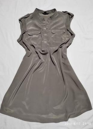 Платье серое/светлый шрафит