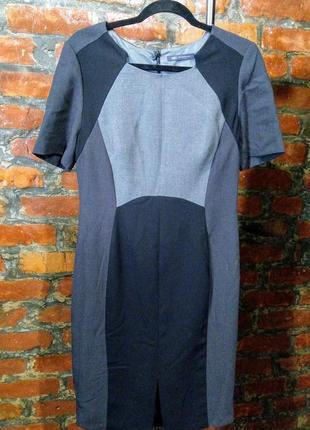 Офисное платье футляр моделирующее фигуру marks & spencer