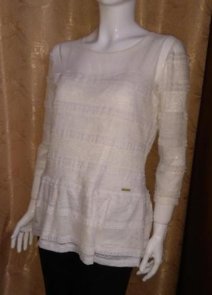 Шикарная блуза guess 48 - 50 с баской