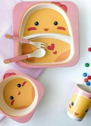 Бамбуковая посуда для детей.