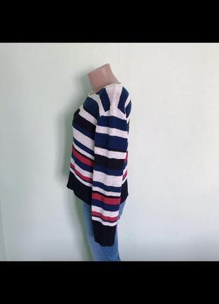 Стильный полосатый акриловый свитер джемпер. р-р m2 фото