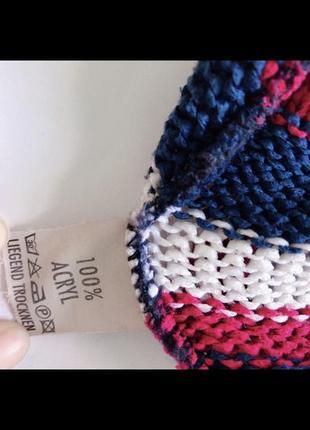 Стильный полосатый акриловый свитер джемпер. р-р m5 фото