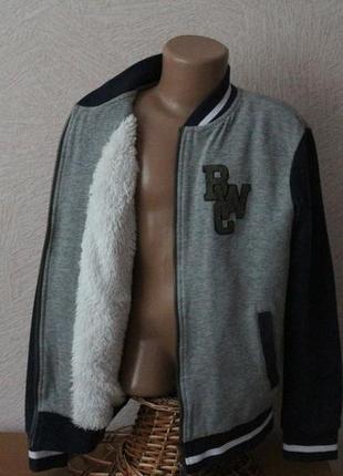Pocopiano куртка трикотажная  деми на меховушке 11-12 лет