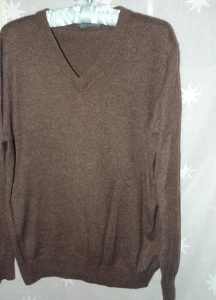 Теплый кашемировый свитер royal class 45% сashmere 55% шелк