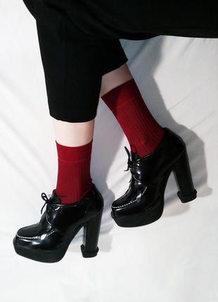 Нереальные ботинки лоферы на каблуке9 фото