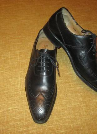 Кожаные туфли patrick броги оксфорды