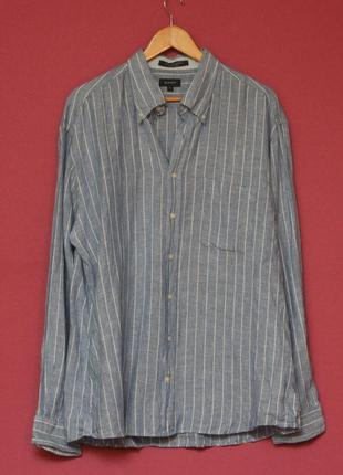 Gant xl long island linen рубашка льняная оригинал