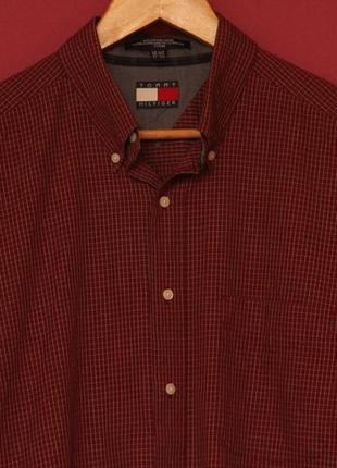 Tommy hilfiger 16 1/2  xl рубашка из хлопка клетчатая
