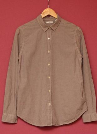 Uniqlo m-l рубашка из хлопка