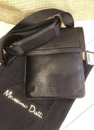 Продам новую кожаную сумку massimo dutti