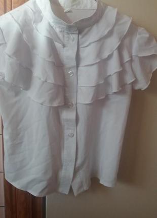 Блузка в школу короткий рукав