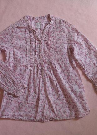 """Яркая легкая блузка/рубашка рост 128 """"l,o,g.g.  h&m"""""""