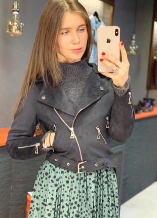 Куртка из экозамши, косуха