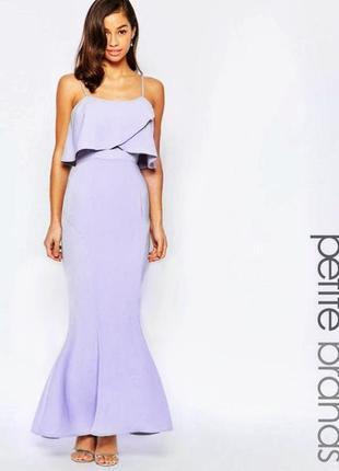 Вечернее платье лавандового цвета
