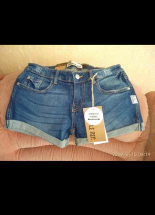 Новые джинсовые шорты, стрейч, размер   на 38 размер