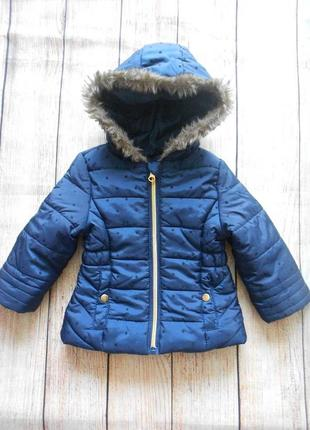 Демисезонная куртка на девочку f&f 9-12мес.