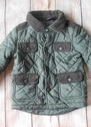 Демисезонная стеганная куртка на мальчика george 9-12мес.