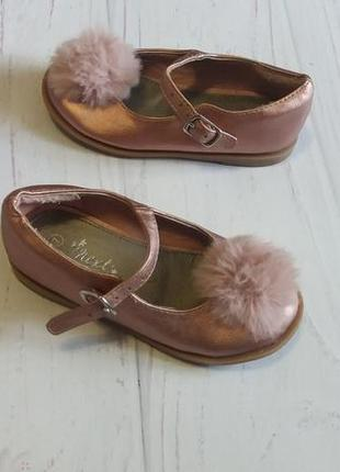 Туфли туфельки с пушком  мехом модные  от next
