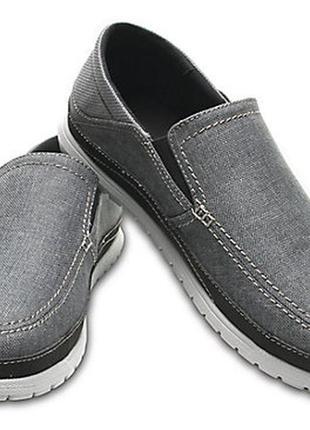 Мужские макасины туфли crocs m10